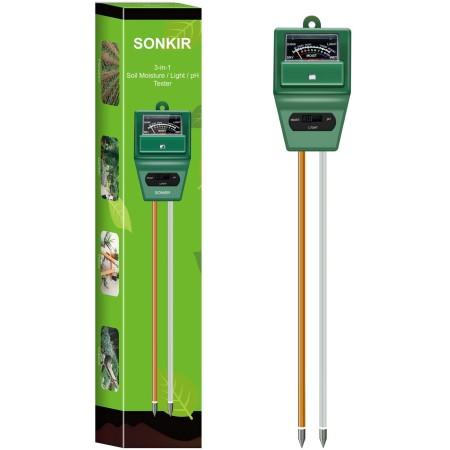 Sonkir soil ph meter, ms02 3 in 1 soil tester