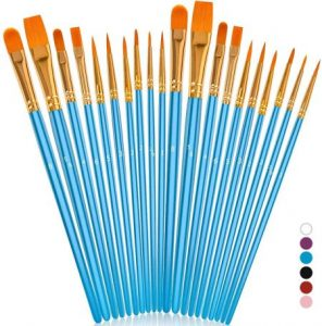 Soucoloracrylicpaint brushes set