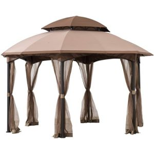 Sunjoy louisiana 13 5x13 5 ft steel gazebo
