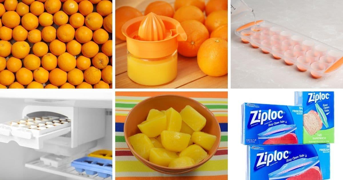 freeze orange juice in freezer bags