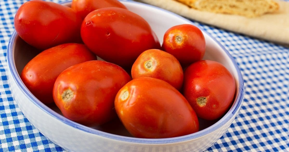 A picture of San Marzano tomatoes