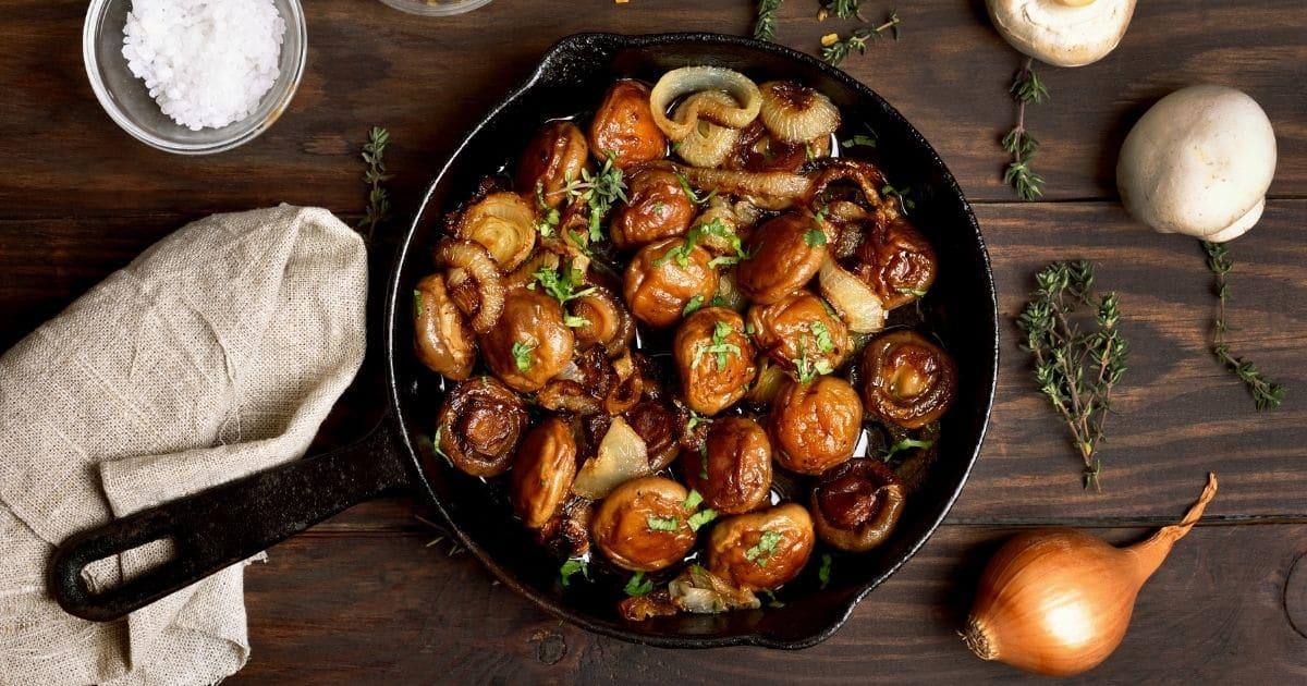 A picture of sauté mushrooms
