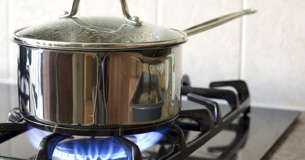 dry cottage cheese - A picture of a pan on the stove over high to medium heat