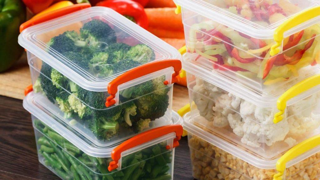 Portioned vegetables