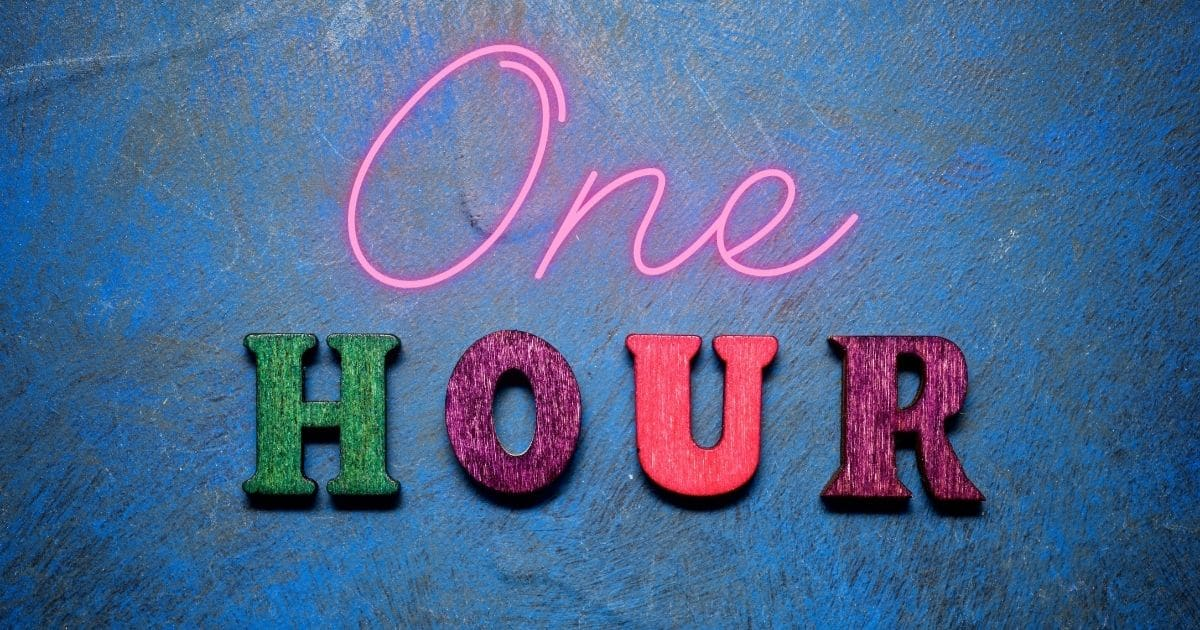 A banner with the words One Hour! - dry cottage cheese