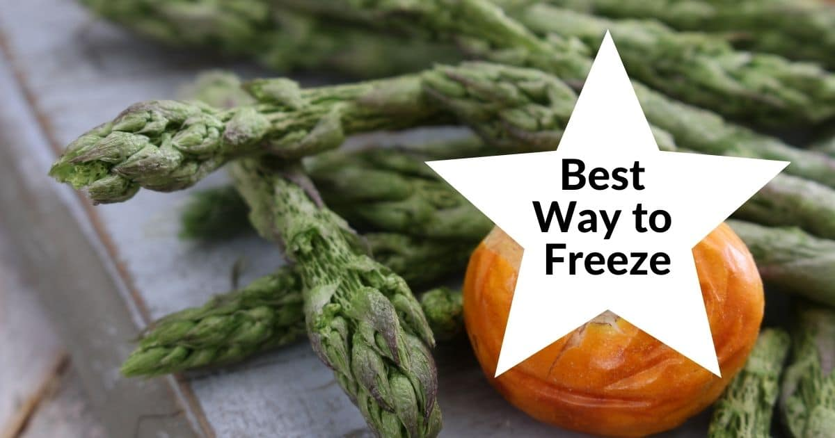 Frozen asparagus lines in various ways