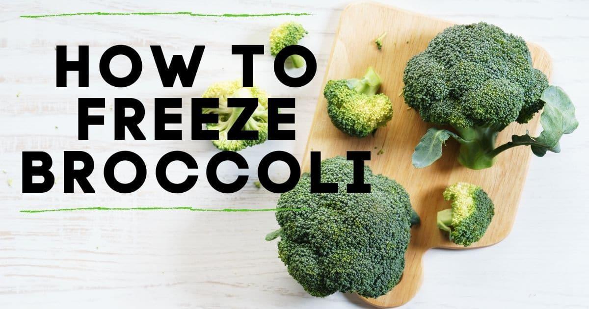 Broccoli before freezing.