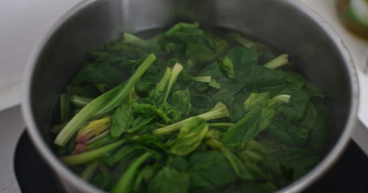 Boil your spinach to blanch them
