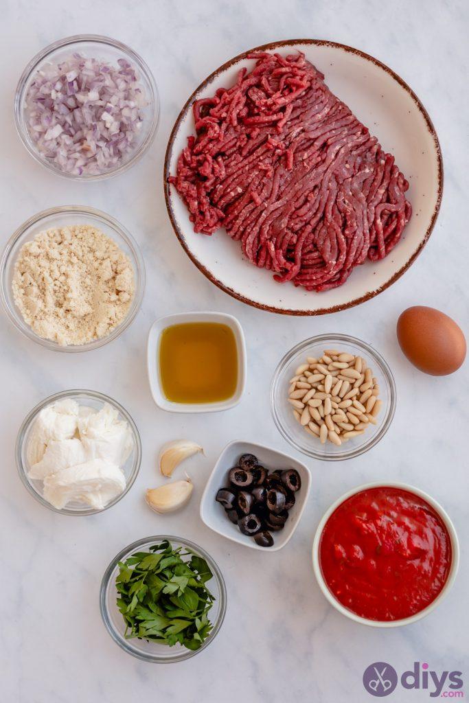 Keto Meatballs Recipe ingredients