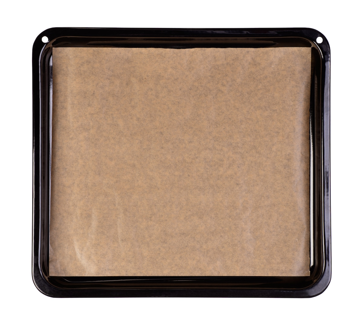 A pan with baking paper