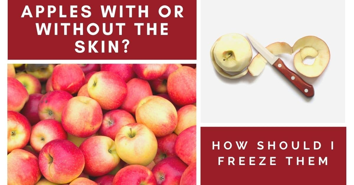Can You Freeze Peeled Apples?