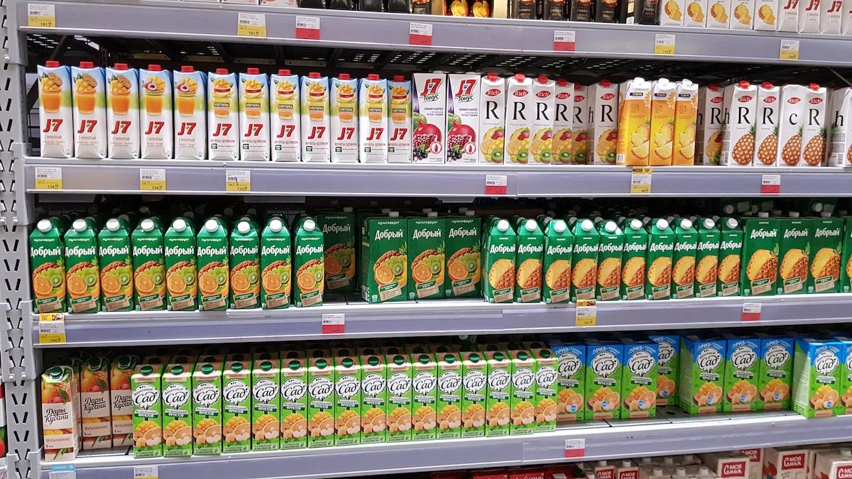 Orange Juice in Cartons