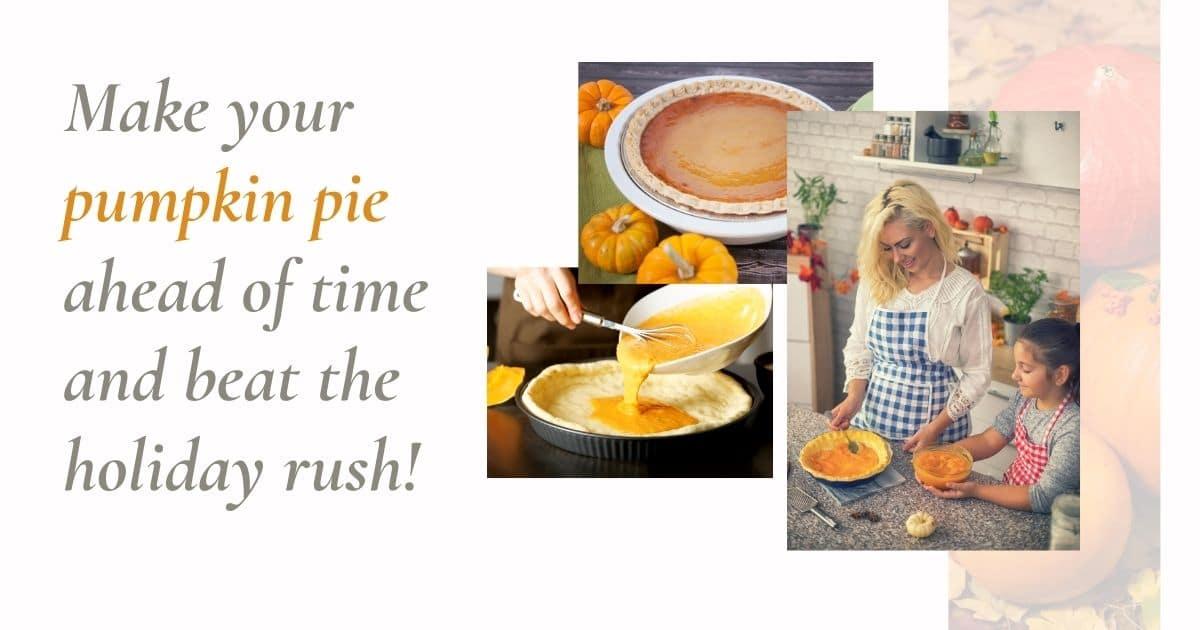 Can you freeze pumpkin pie
