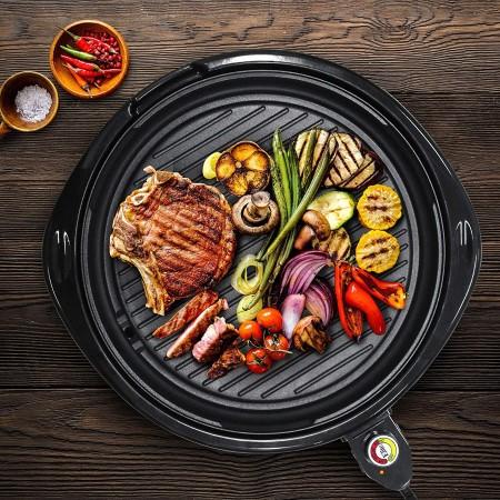 Elite gourmet emg 980b large indoor electric round nonstick grill
