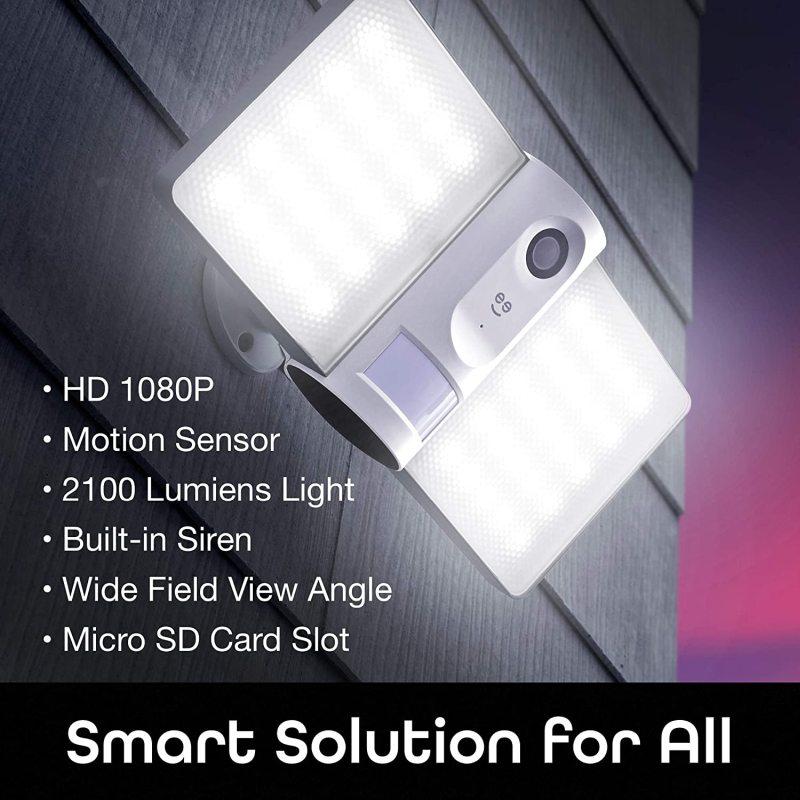 Geeni sentry wi fi wireless smart floodlight security camera