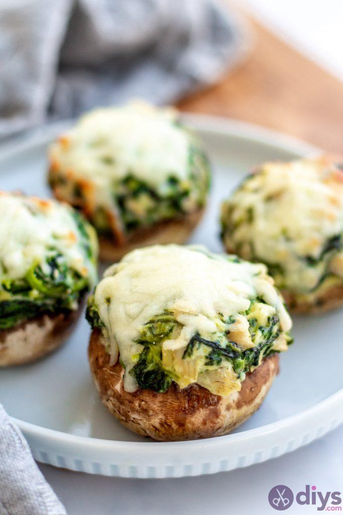 Keto spinach artichoke stuffed mushrooms 10