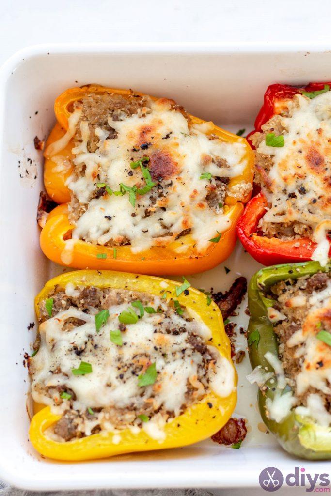 Keto stuffed bell peppers 14