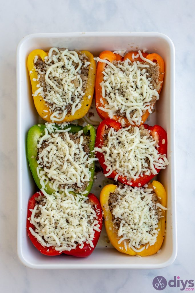 Keto stuffed bell peppers 6