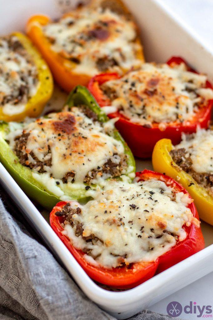 Keto stuffed bell peppers 9