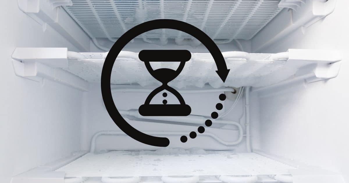 A freezer with a sand clock