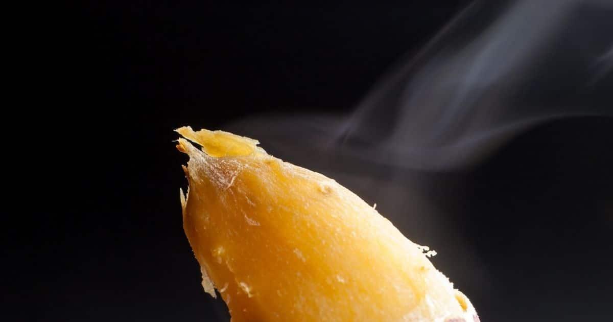 Boiled sweet potato