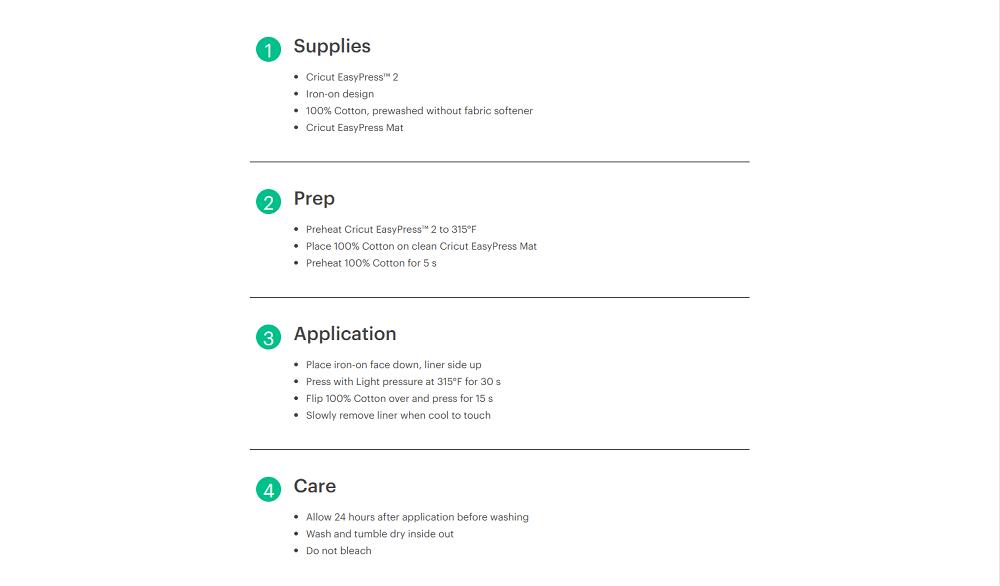 Cricut easypress heat guide 2