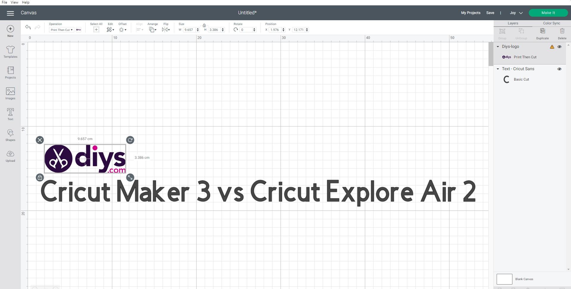 Cricut maker 3 vs cricut explore air 2 design space