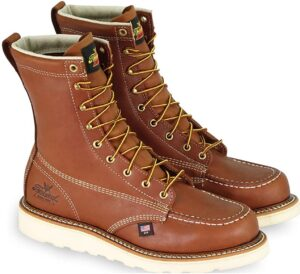 """Thorogood men's american heritage 8"""" moc toe safety boots"""